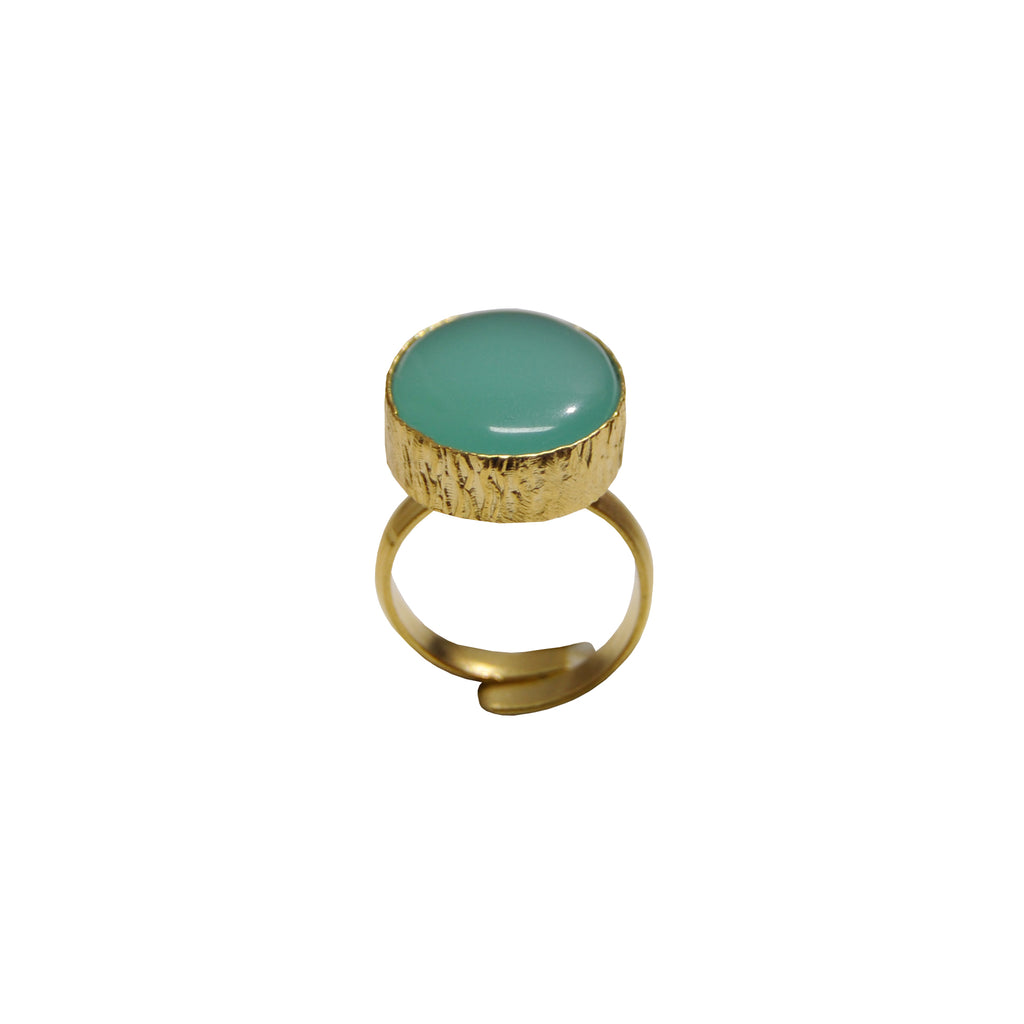 Green Water Stone Ring
