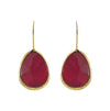 Golden Earrings w/ Agathe Stone