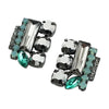 Silver, Black & Green Crystal Earrings