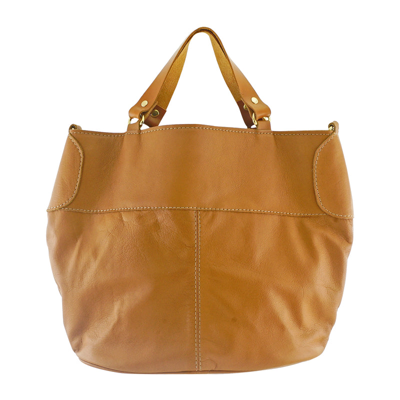 Brown Leather Lace Bag
