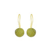 Golden Earrings w/ Green Stone
