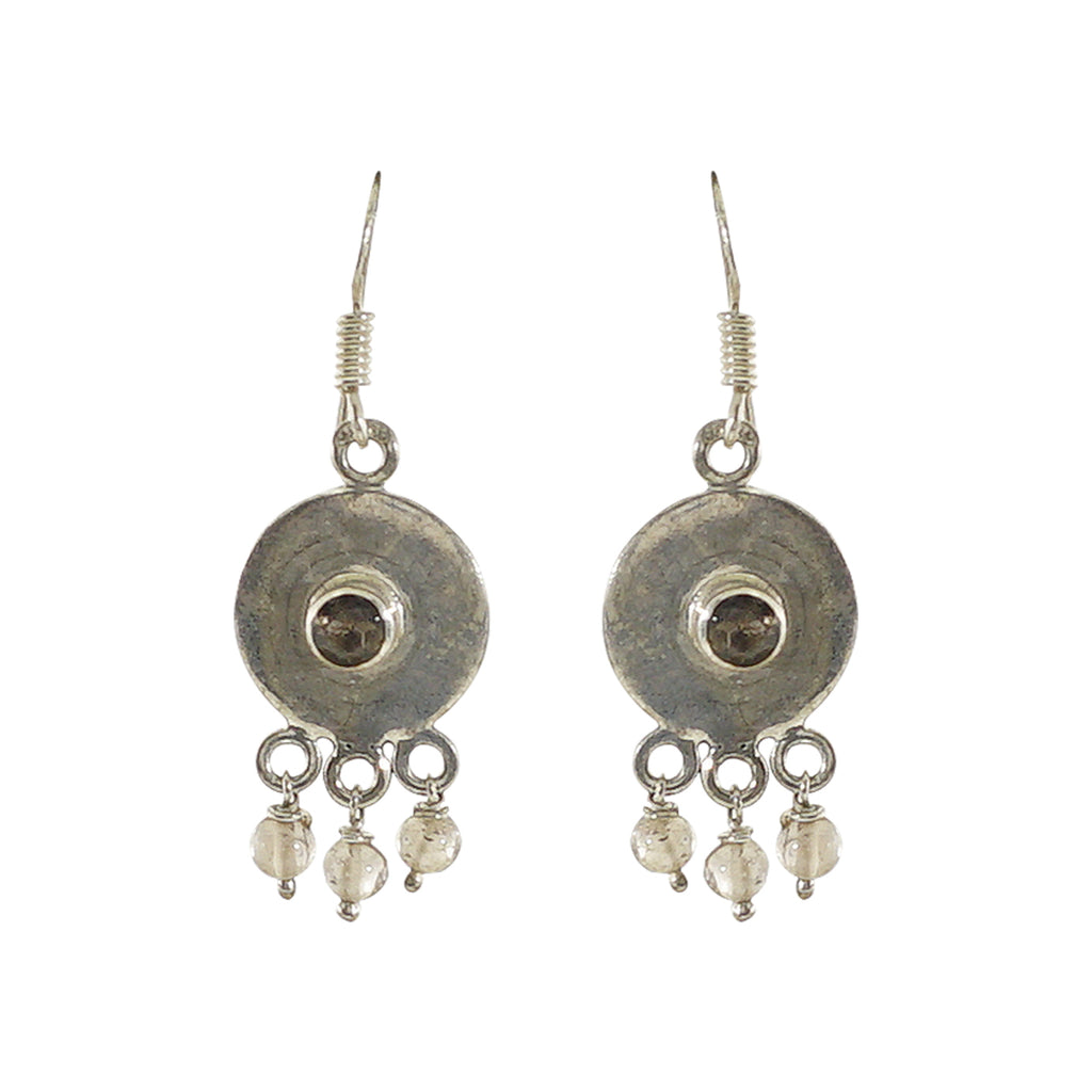 Sterling Silver Earrings w/ Stone & Crystals
