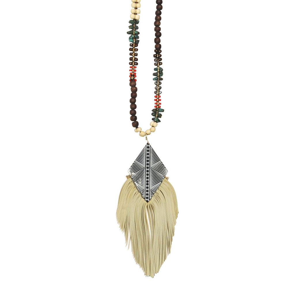 Pendant with Fringe Necklace