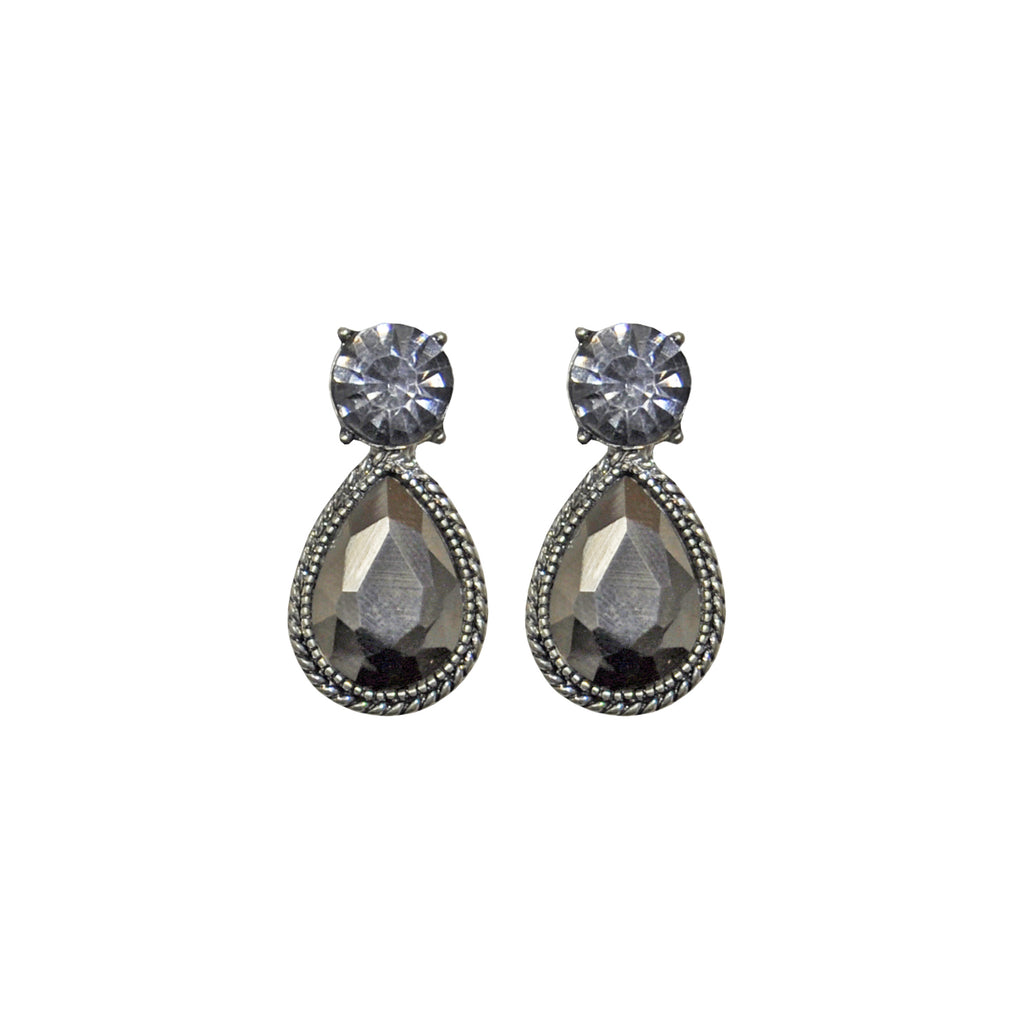 Grey Crystals Earrings