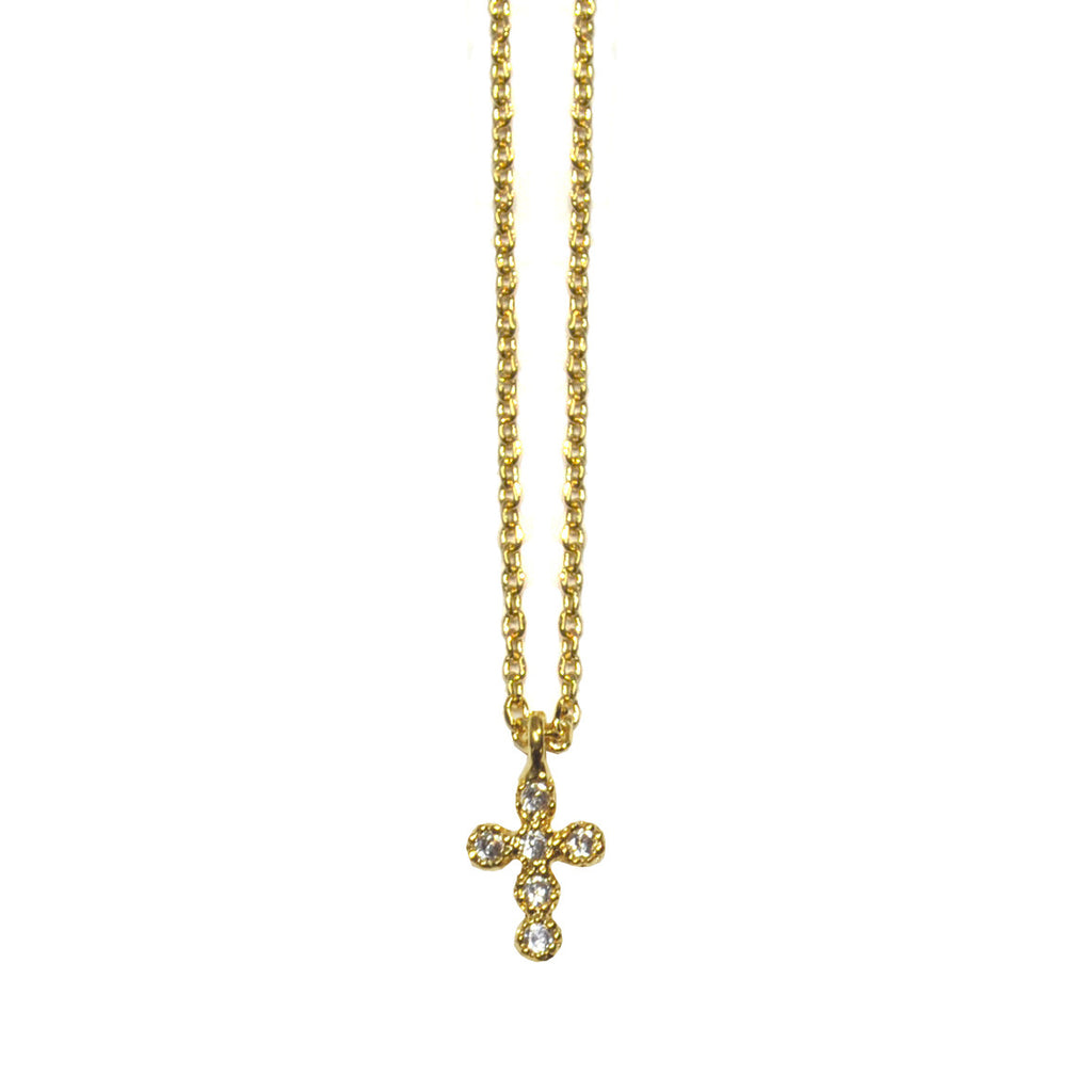 Cross with Crystals Pendant Necklace