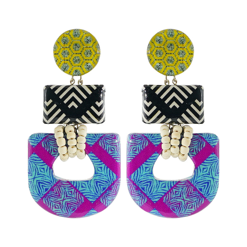 Resin & Wood Earrings w/ Patterns