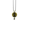 Black String w/ Brass Pendant