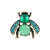 Green & Blue Crystal Bug Brooch