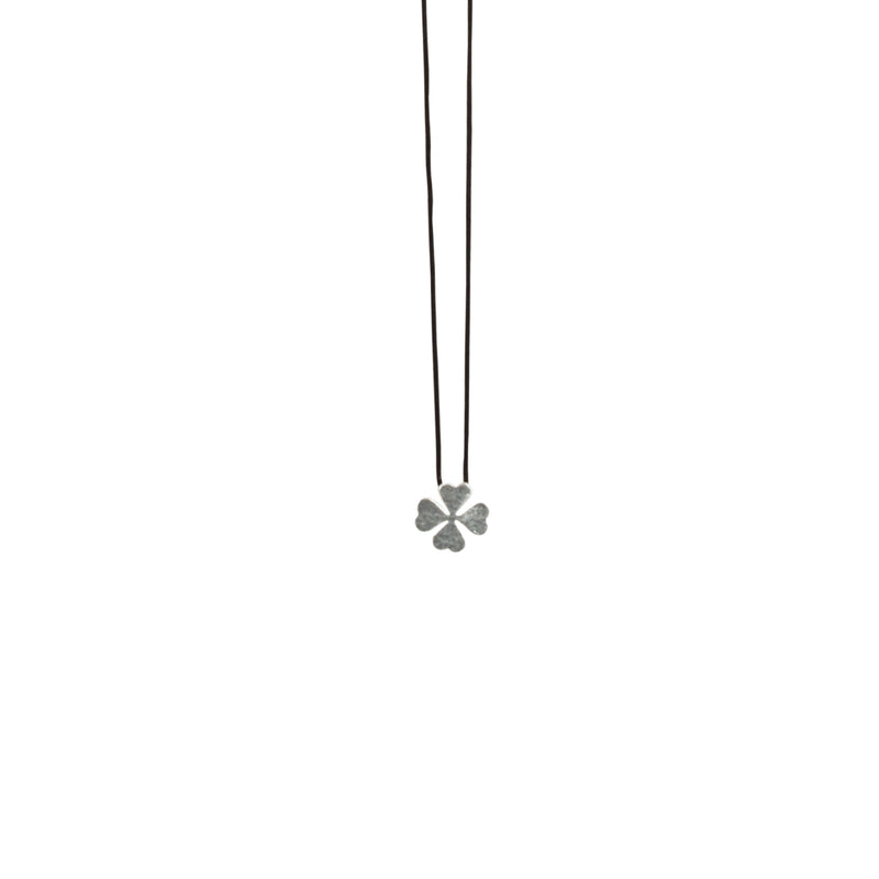 Necklace w/ Silver Clover