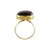 Golden Ring w/ Brown & Black Stone