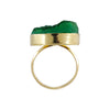Golden Ring w/ Green Stone