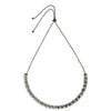Gunmetal Necklace w/ Pearls & Crystals