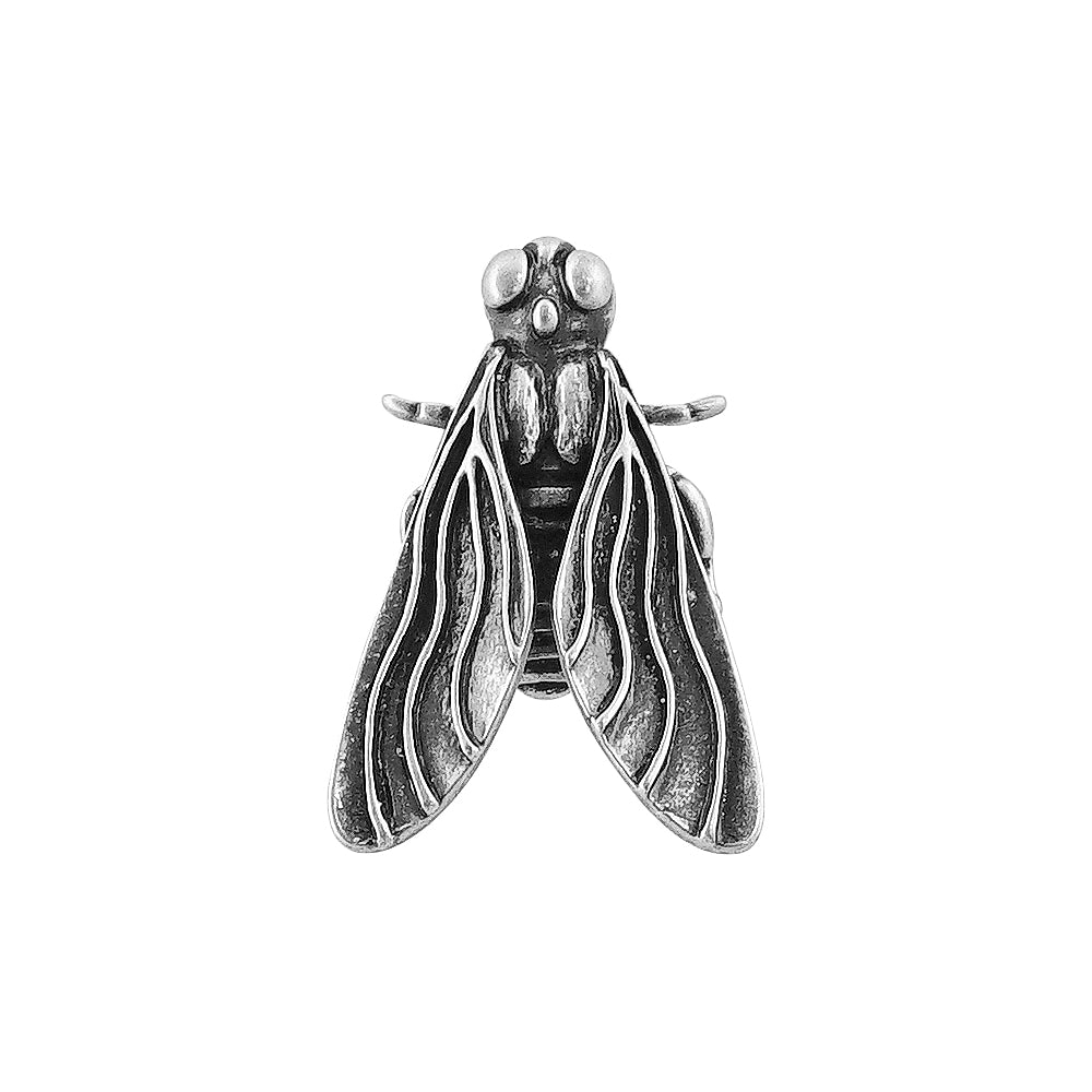Silver Plated Bug Brooch
