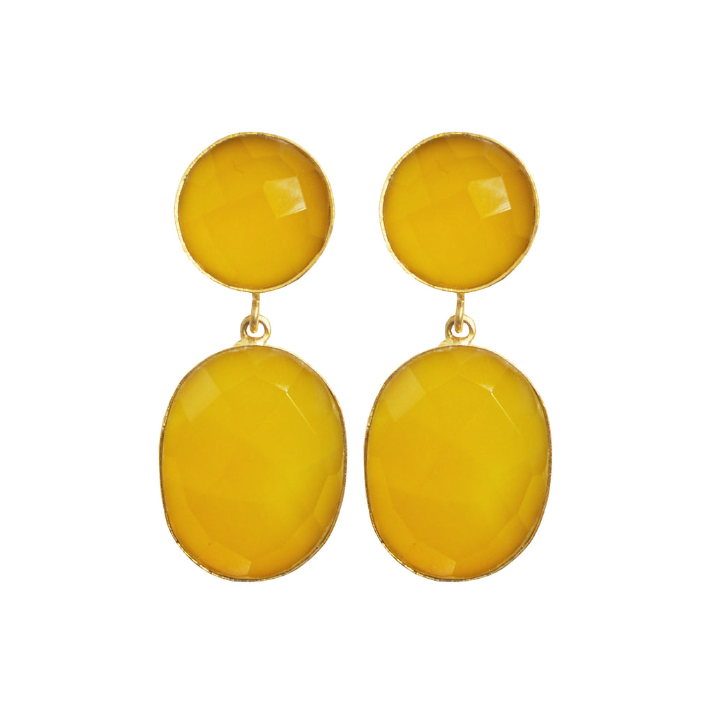 Yellow Stone Earrings