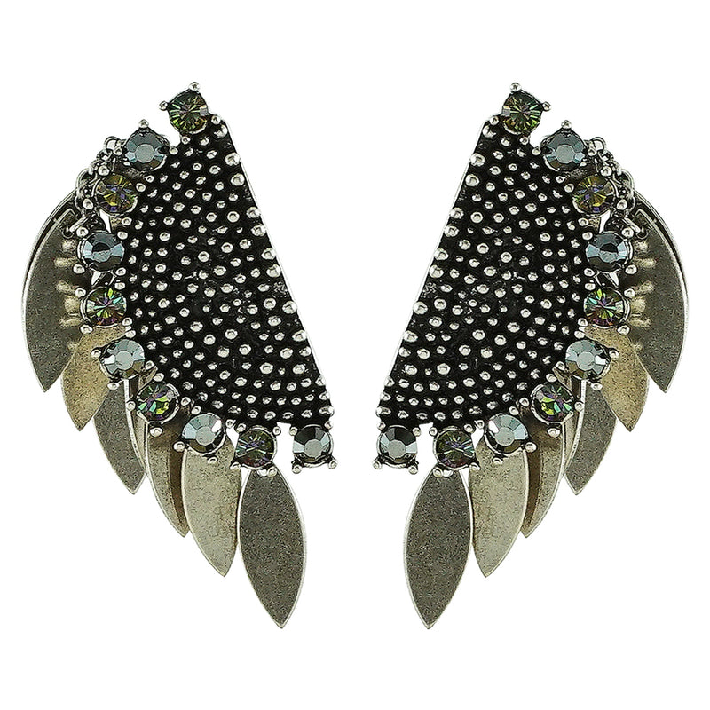 Silver Plated Earrings w/ Crystals