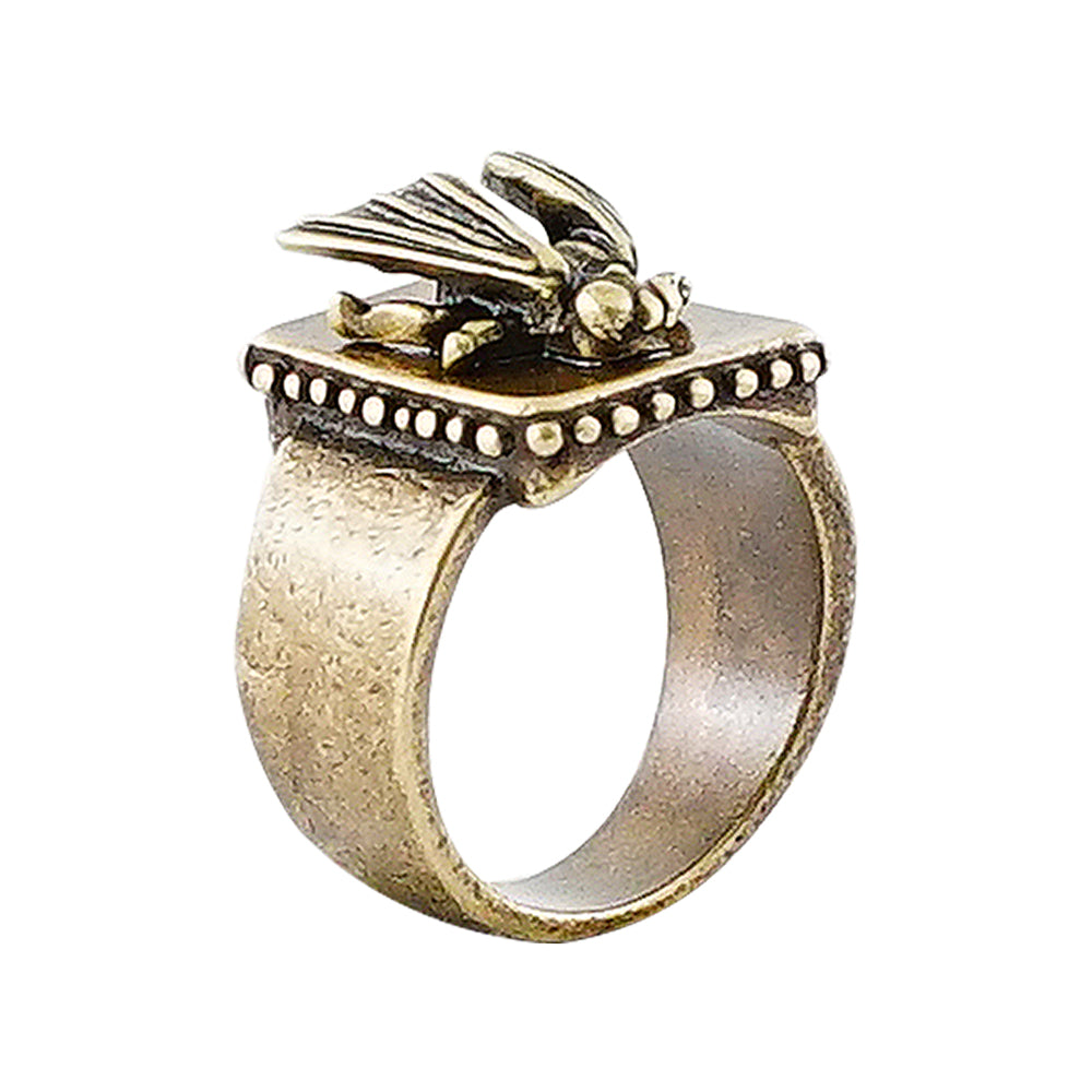 Brass Ring w/ Bug
