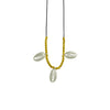 String w/ Golden Beads & Silver Conchs