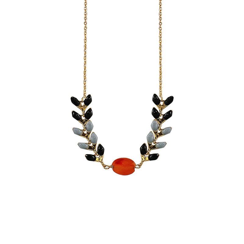 Golden Necklace w/ Red Stone