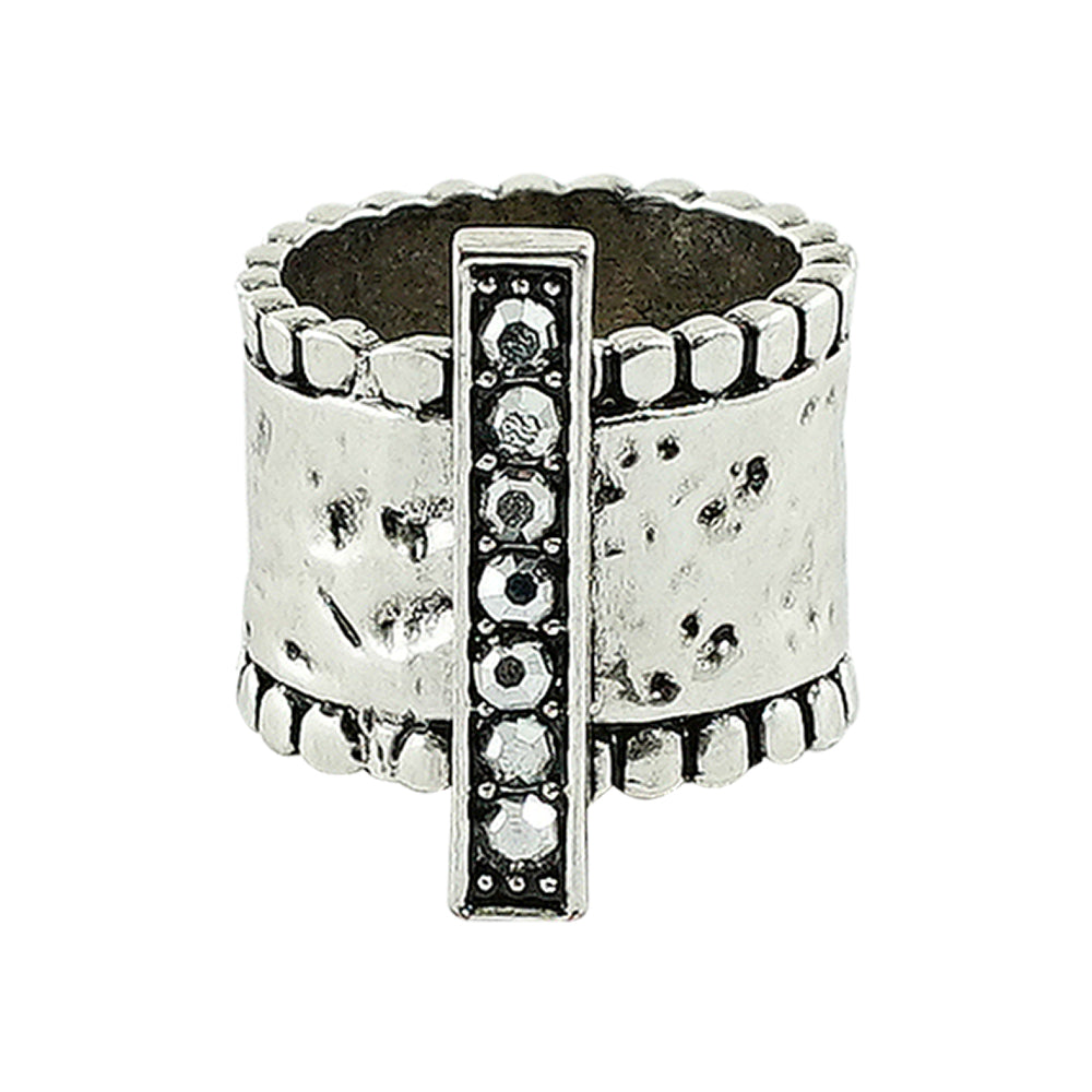 Silver Plated Ring w/ Crystals