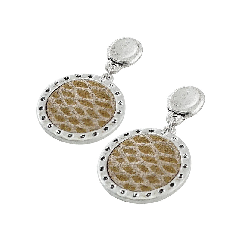 Silver Earrings w/ Pattern