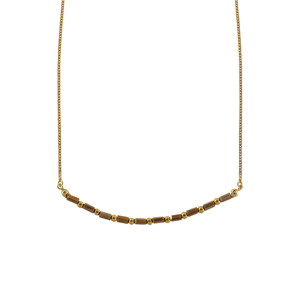 Golden Necklace w/ Golden Crystals