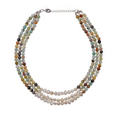 Multicolor Necklace with Freshwater Pearls