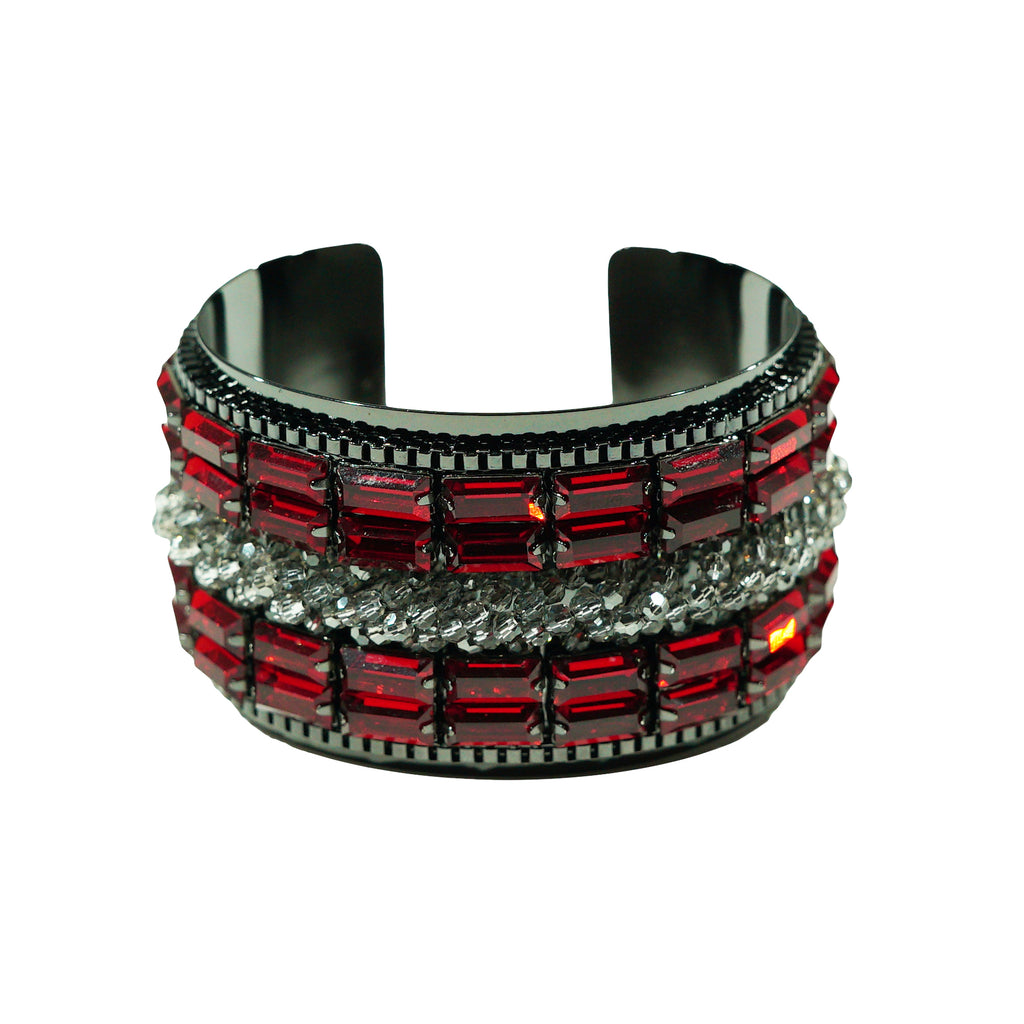 Red & Black Crystal Bracelet