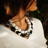 Black & White Resin Double Necklace
