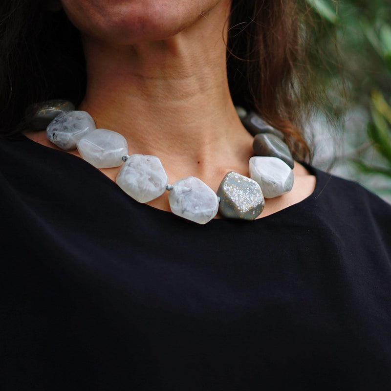 Grey Stones Necklace
