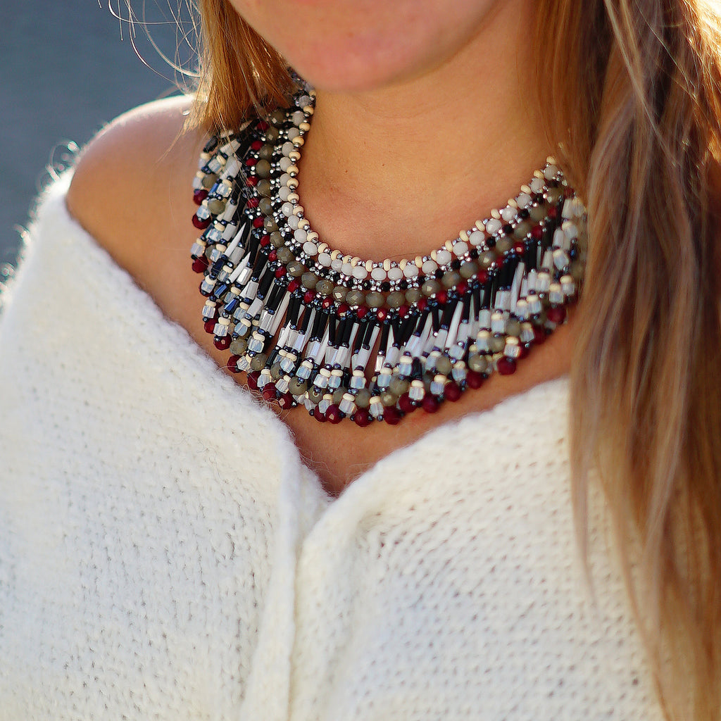 Multicolored Crystals Necklace