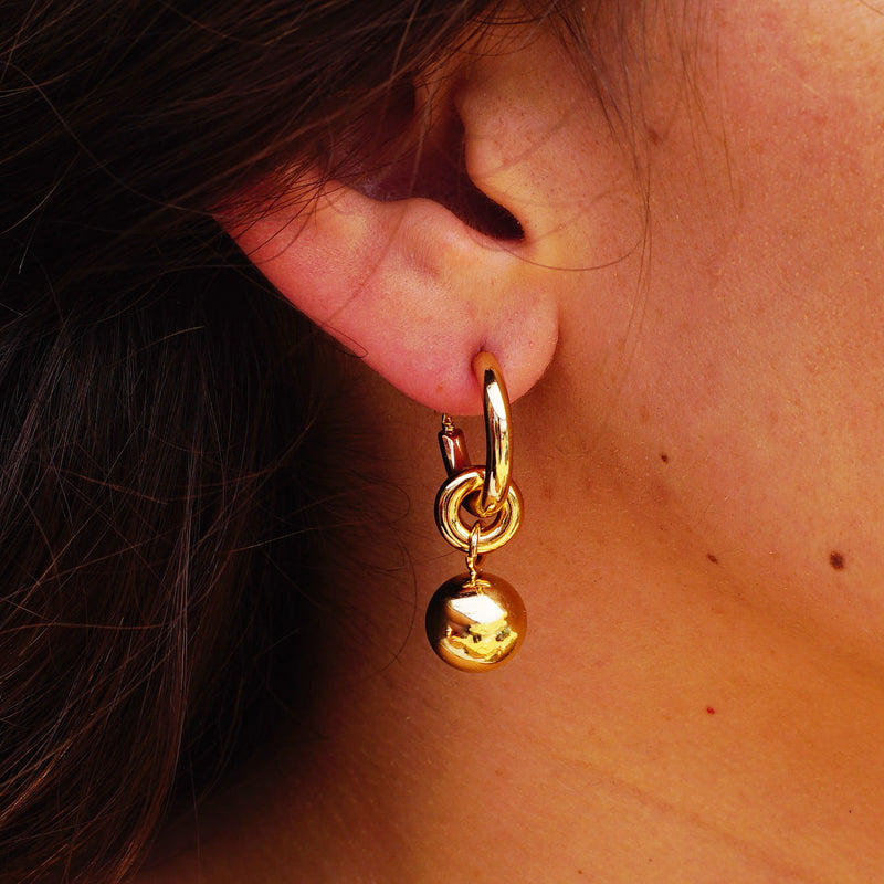Golden Hoops w/ Pedant