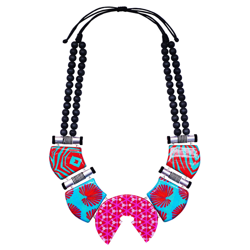 Multicolored Pattern Necklace