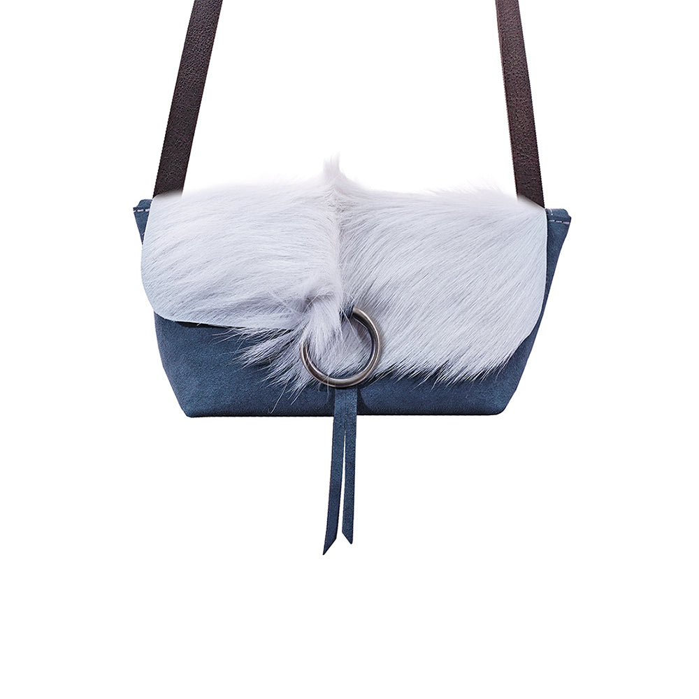 White Fur Handbag
