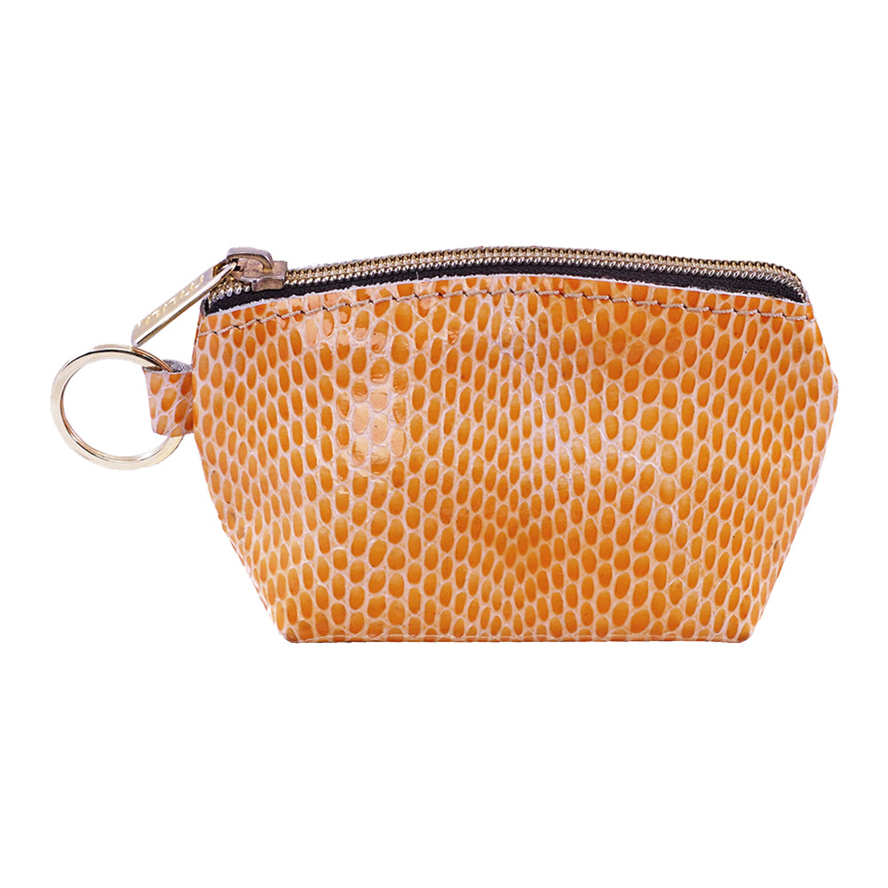 Orange Leather Pouch