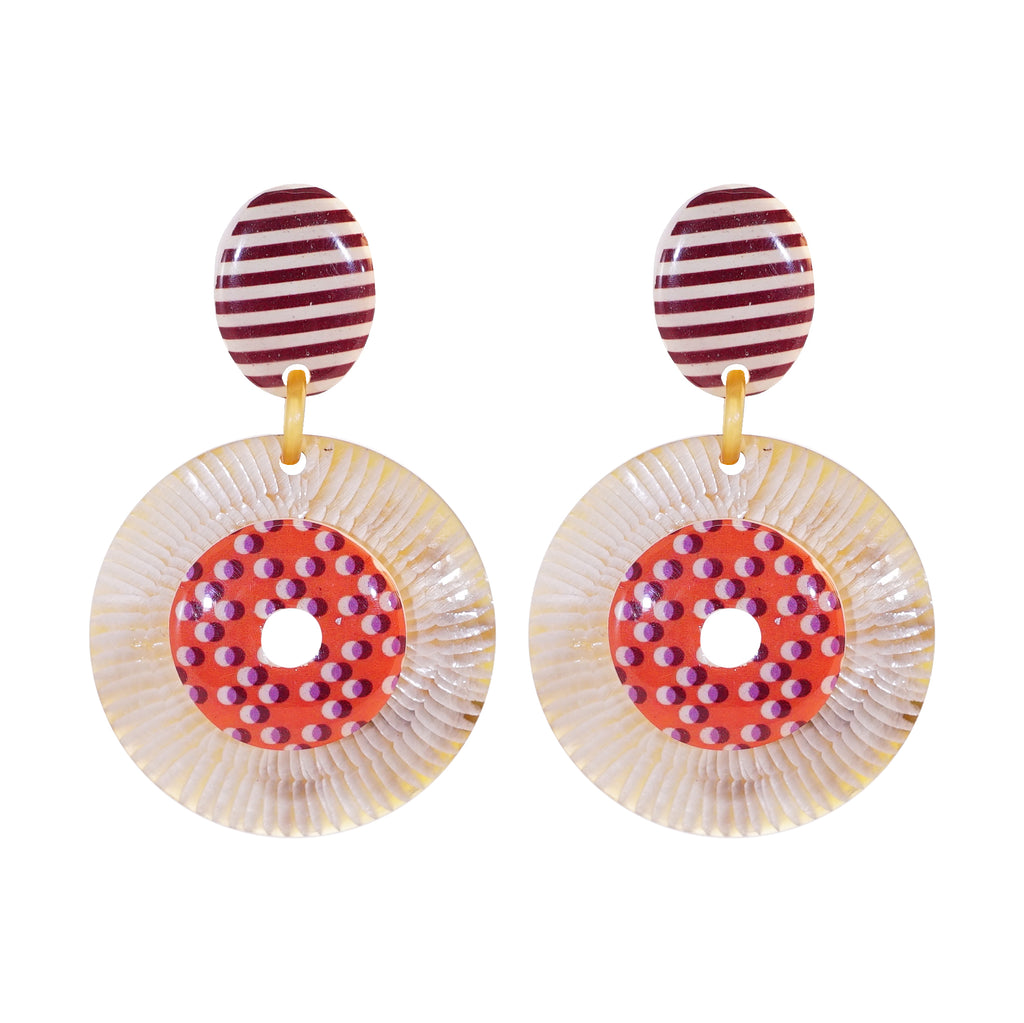 Horn Earrings w/ Pattern