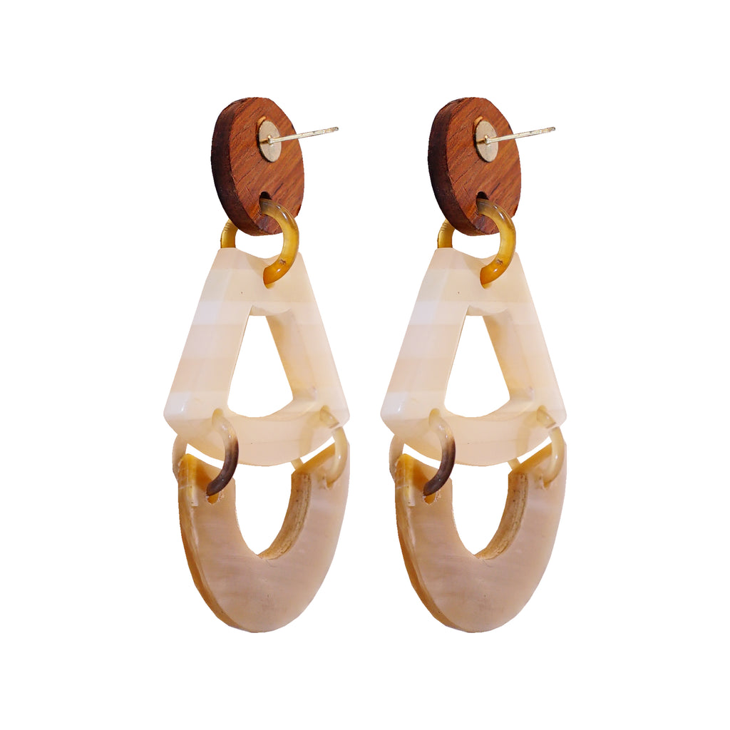 Horn & Wood Earrings