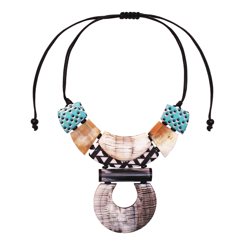 Horn Necklace with Patterns
