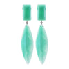 Green Water Long Earrings