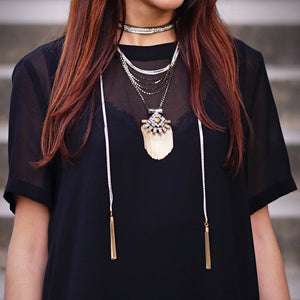 Two-turn Metal Chain Necklace