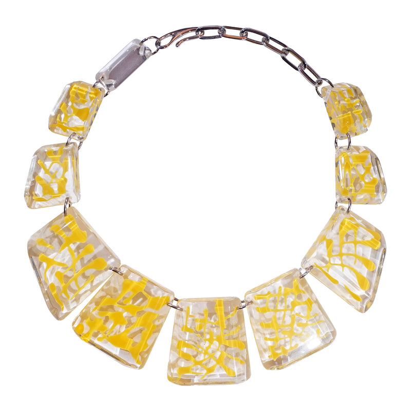 Transparent & Yellow Necklace