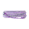 Purple string bracelet w/ purple & silverish beads