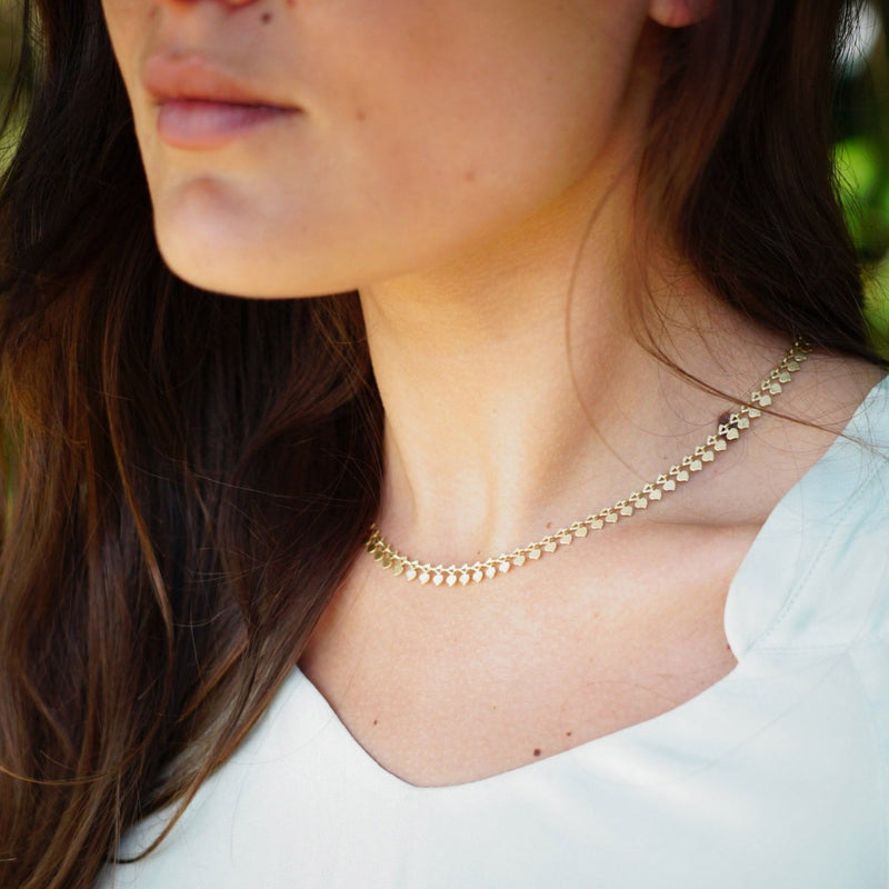 Scratched Golden Necklace