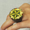 Black Resin Ring w/ Print