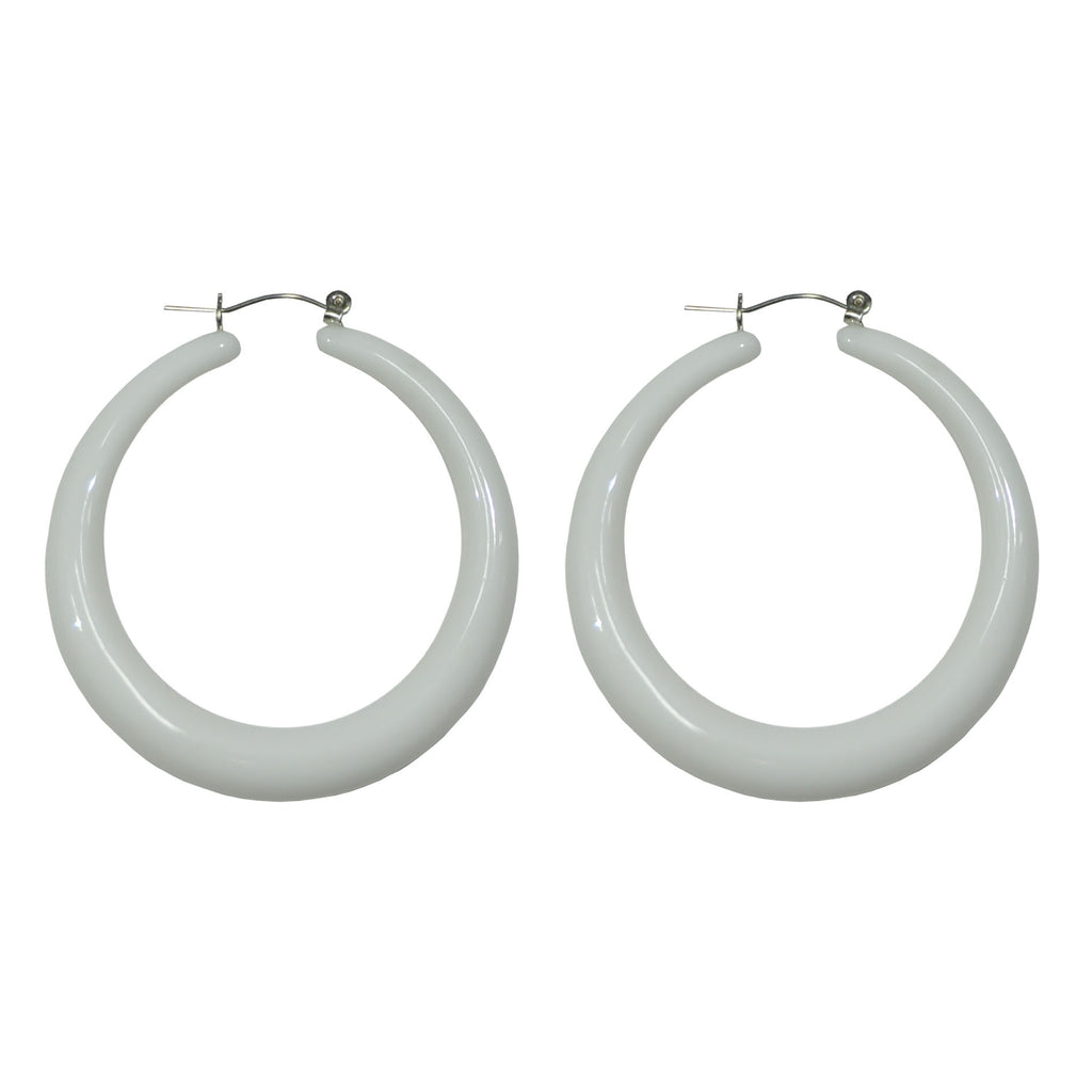 Yellow & White hoop Earrings