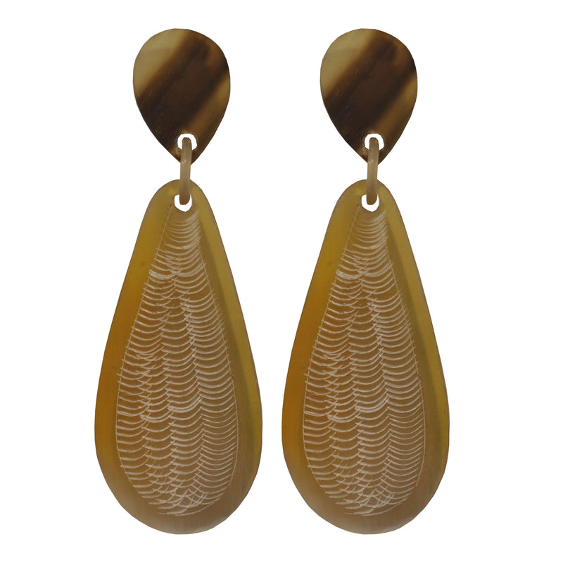 Long Horn Earrings