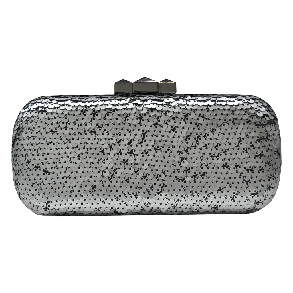 Silver Sequins Clutch