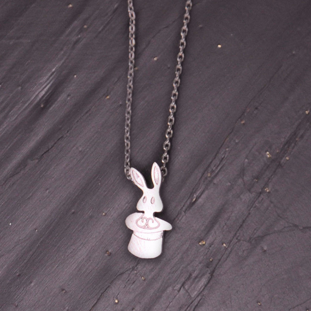 Silver Magic Rabbit Necklace