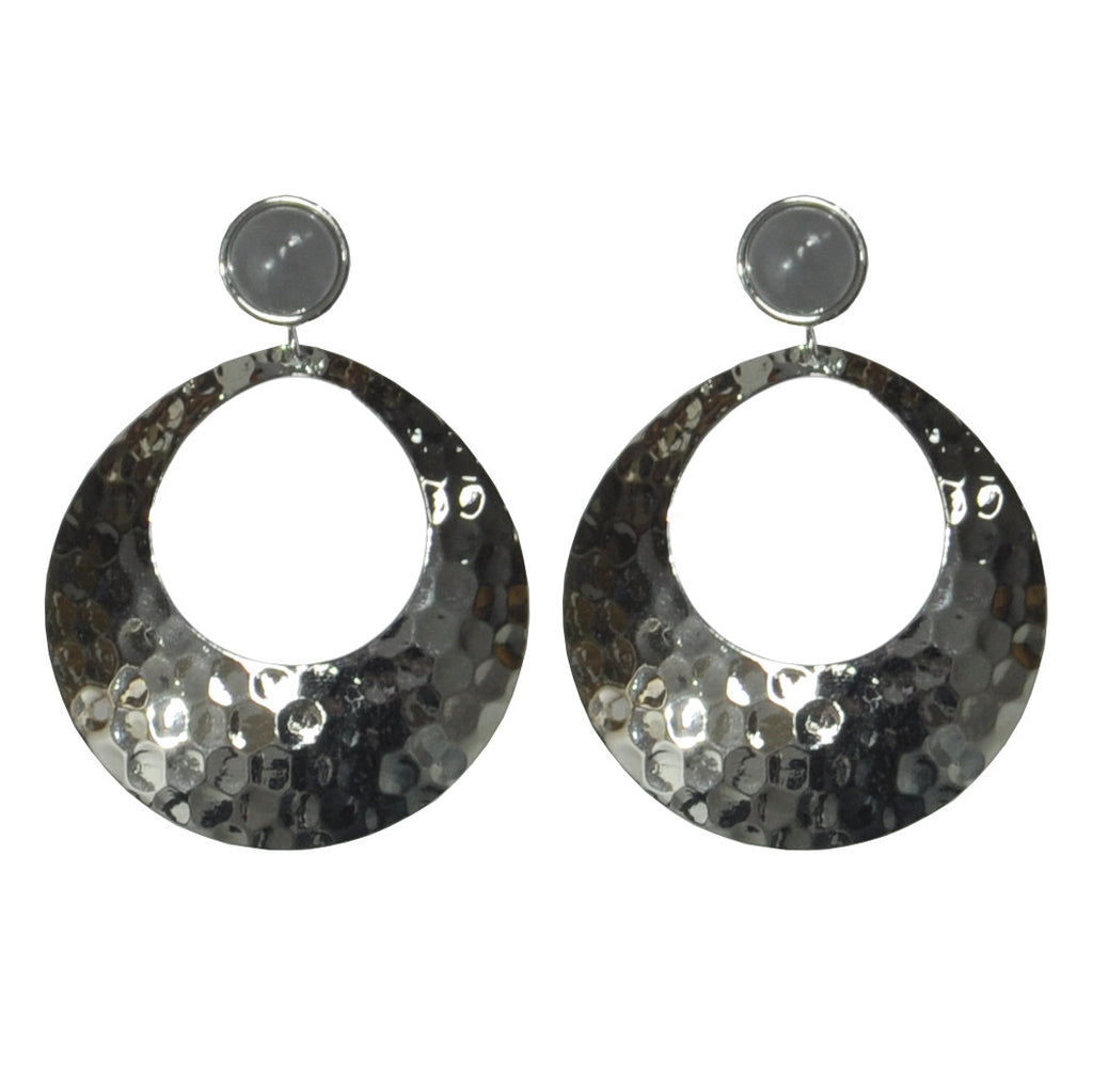 Silver & Grey Earrings