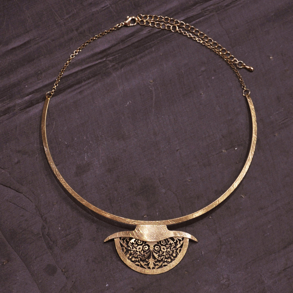 Scratched Gold Necklace