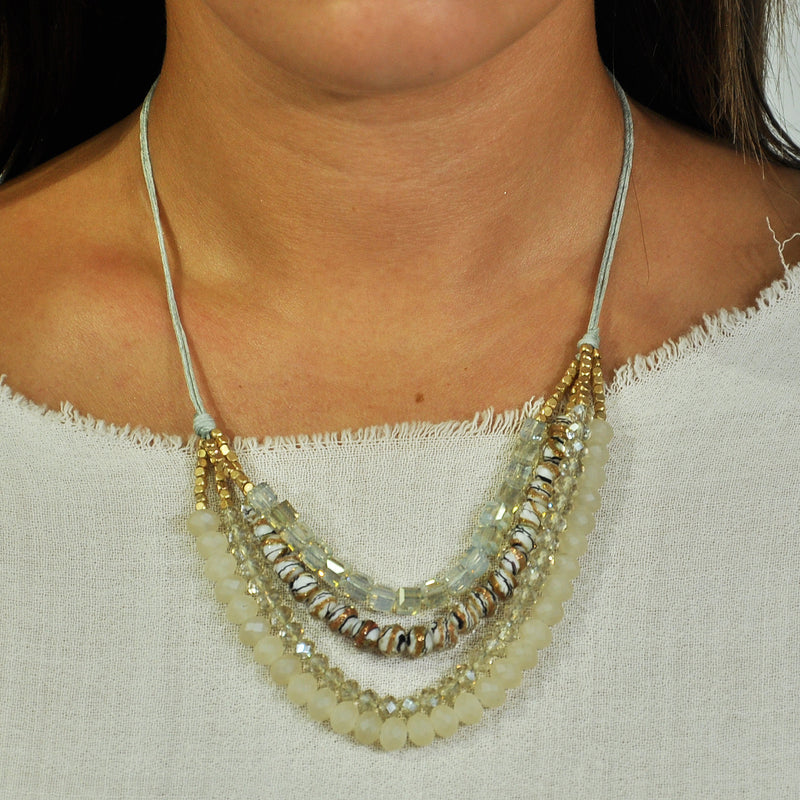 Crystal & Stones Necklace